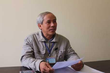 Ông Bùi Tất Thành, Cán bộ Tài chính - Kế toán xã Thạch Khê. (Ảnh: Dân Trí).