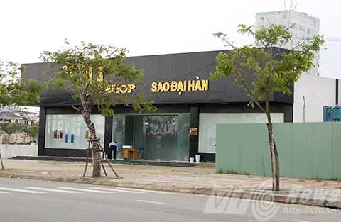 Showroom Jj Shop Sao Đại Hàn trên đường Võ Nguyên Giáp cũng bị xử phạt 4,8 triệu đồng và yêu cầu chấn chỉnh việc phục vụ người tiêu dùng