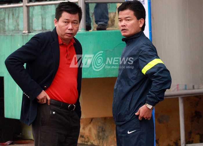 Đội bóng của bầu Trường (bìa trái) đang bị VFF xem xét chấm dứt tư cách thành viên. (Ảnh: Quang Minh)