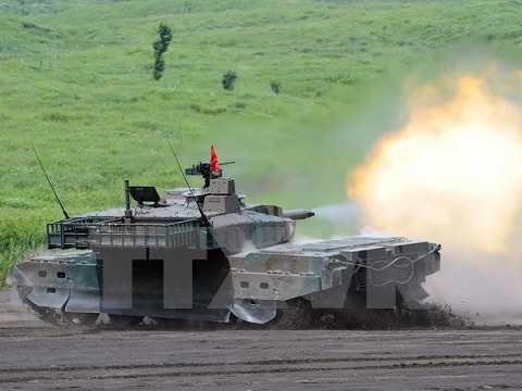 Xe quân sự Lực lượng phòng vệ mặt đất Nhật Bản tham gia tập trận