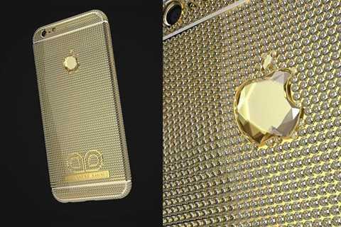 iPhone kim cương - 2,5 triệu USD. Không những là điện thoại thông minh với công nghệ hàng đầu, chiếc điện thoại iPhone này còn được