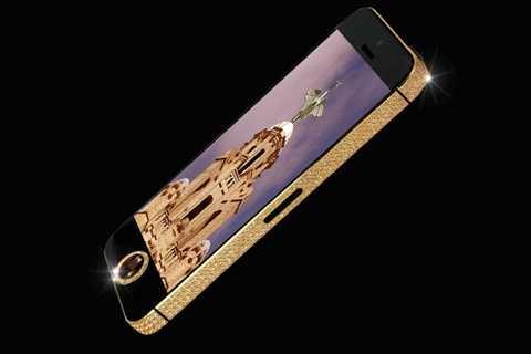iPhone 5 Black Diamond - 15 triệu USD. Xu hướng iPhone hiện nay vẫn đang lan rộng ra cả thế giới và ở thị trường điện thoại xa xỉ, chắc chắn iPhone sẽ nhận được nhiều sự quan tâm nhất. Viên kim cương đen khổng lồ loại cực kỳ hiếm được đặt thẳng vào nút Home của chiếc điện thoại này và giúp nhà sản xuất thoải mái đưa ra giá trị lên tới 15 triệu USD cho chiếc điện thoại này