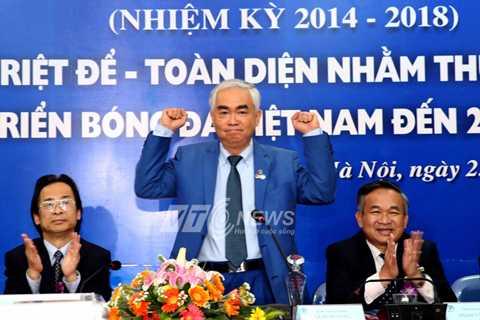 Ông Lê Hùng Dũng trở thành chủ tịch VFF vào tháng 3/2014 (Ảnh: Quang Minh)