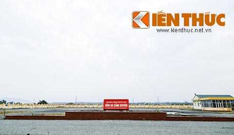 Bến xe khách Cẩm Xuyên được xây dựng trên diện tích 9987,5 mét vuông với số vốn đầu tư hơn 33 tỉ đồng nhưng hiện nay đang bị bỏ hoang.