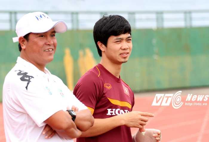 HLV Nguyễn Thanh Sơn đã có kinh nghiệm làm việc với các đội hình dưới trướng Miura (ảnh: Hoàng Tùng)
