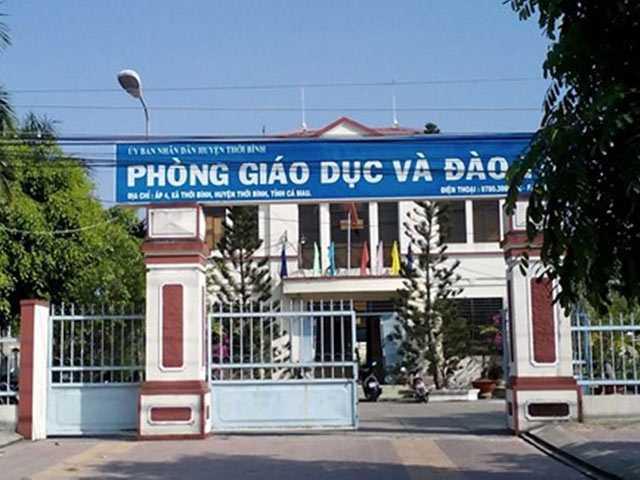 Phòng Giáo dục huyện Thới Bình nơi đang nợ hơn 17 tỷ đồng của giáo viên