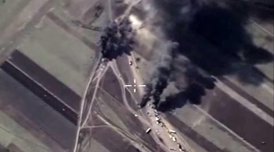 Đoàn xe của IS trúng bom chiến cơ Nga