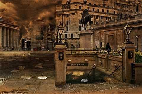 Hệ thống tàu điện ngầm ngập chìm trong làn nước ở London (Anh)