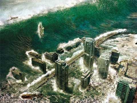 Trận sóng thần khủng khiếp chuẩn bị ập vào một thành phố giả tưởng