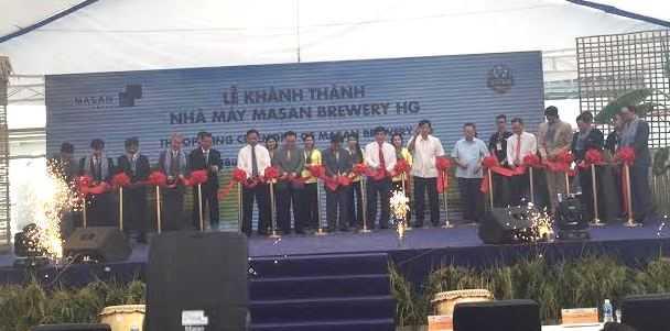 Masan khánh thành nhà máy bia mới Masan Brewery HG ở Hậu Giang
