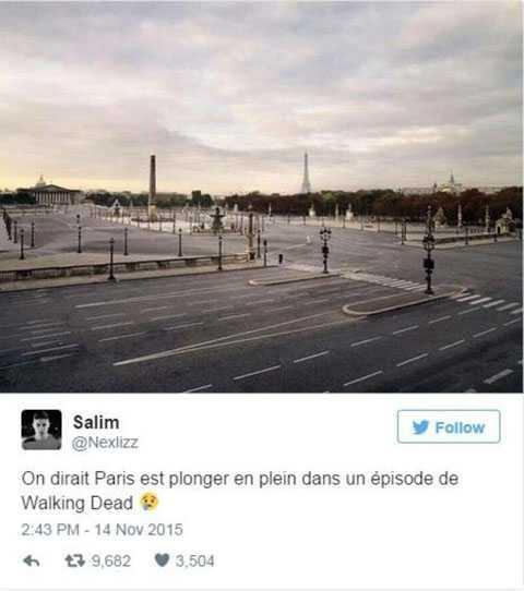 thủ đô Paris vắng lặng sau các vụ đánh bom và xả súng.