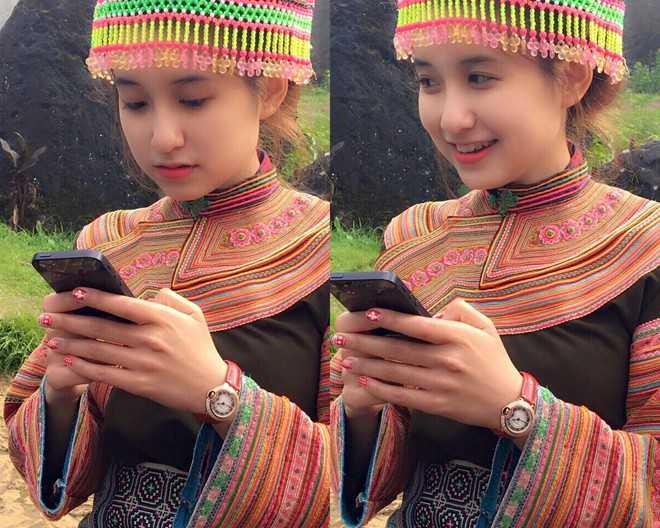 Cô gái nổi tiếng trên nhiều diễn đàn mạng nhờ bức ảnh trong trang phục dân tộc H'Mông.