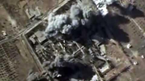 Máy bay Nga không kích trúng một mục tiêu khủng bố ở Syria (Nguồn: AFP)
