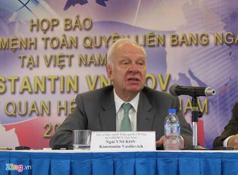 Đại sứ Liên bang Nga tại Việt Nam Konstantin Vnukov. Ảnh: Hoàng Hà
