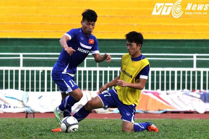 Sau một mùa giải trui rèn tại V-League, khả năng phòng ngự bằng óc phán đoán của Xuân Trường đã cải thiện (ảnh: H.T)