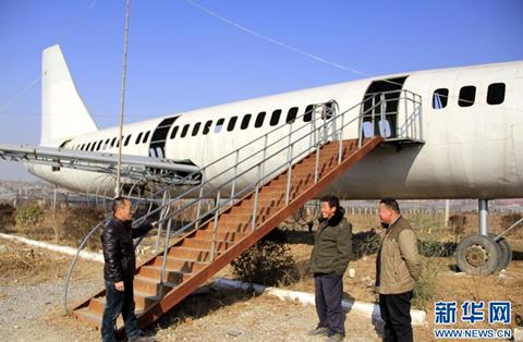 Lối lên của máy bay, sau này sẽ là lối lên của nhà hàng