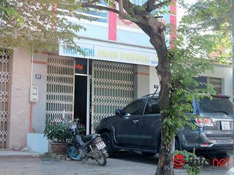 Nhà nghỉ Minh Phương, nơi Shao Can Hui đang thuê tạm trú cùng 14 người Trung Quốc! (Ảnh: HC)