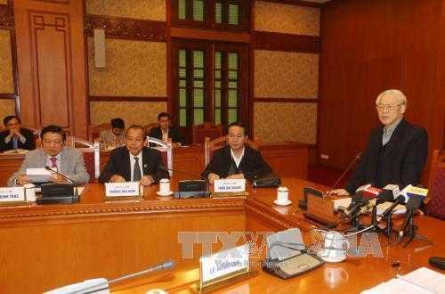 Tổng Bí thư Nguyễn Phú Trọng chủ trì phiên họp thứ 9 của Ban Chỉ đạo Trung ương về Phòng chống tham nhũng.