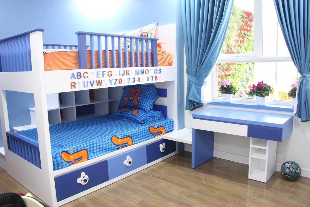 Phòng ngủ nhỏ thiết kế dành riêng cho các con
