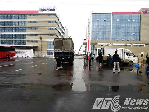 Trụ sở Công ty TNHH Regina Mirade International Việt Nam trong KCN VSip, nơi xảy ra vụ ngộ độc - Ảnh MK