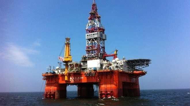 Giàn khoan Hải Dương 981 của Trung Quốc. Ảnh: AFP