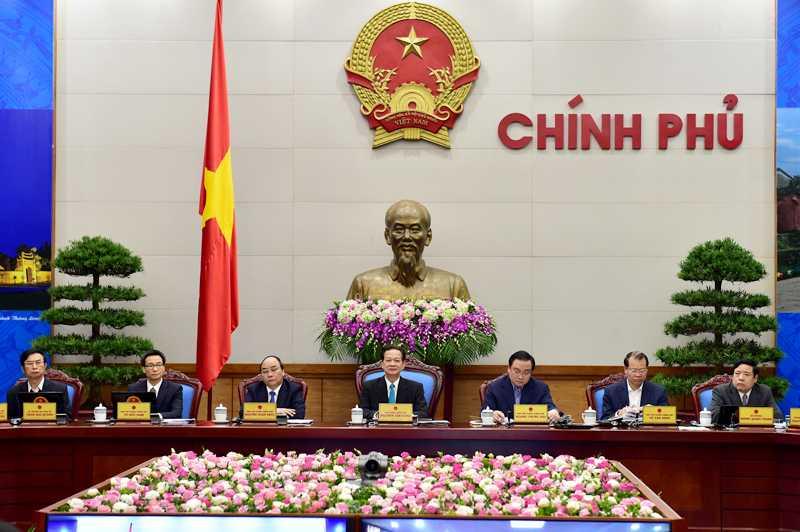 Thủ tướng Nguyễn Tấn Dũng chủ trì hội nghị trực tuyến của Chính phủ với các địa phương. Ảnh: VGP/Nhật Bắc