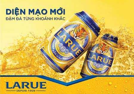Bia Larue có thị phần rộng ở khu vực miền Trung