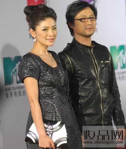 Uông Phong và nữ MC Tề Đan.