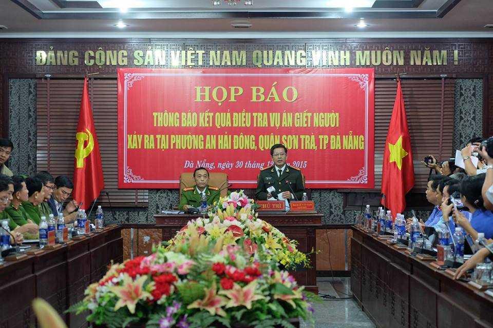 Buổi họp báo thông tin chính thức kết quả điều tra vụ bắn chết người Trung Quốc ở Đà Nẵng