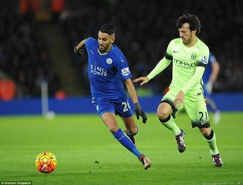 Leicester City và Man City chia điểm đêm qua