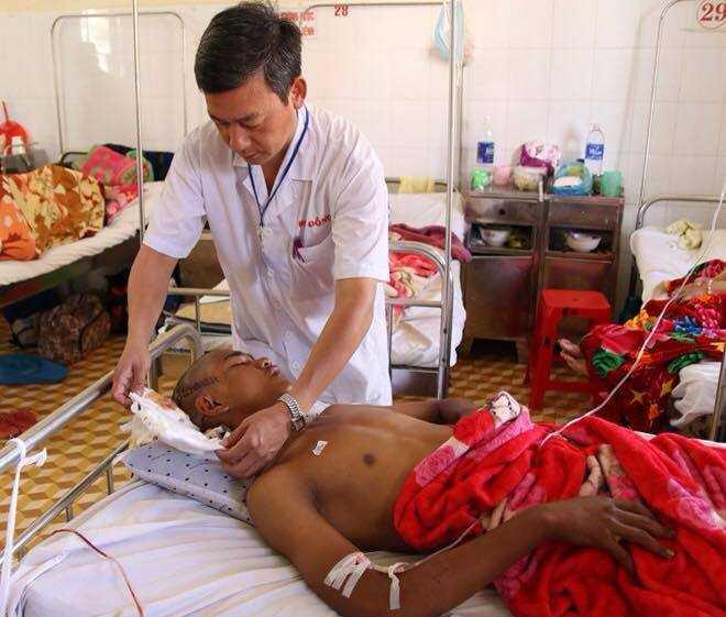 Bệnh nhân đang được điều trị tại bệnh viện đa khoa tỉnh Đắk Lắk