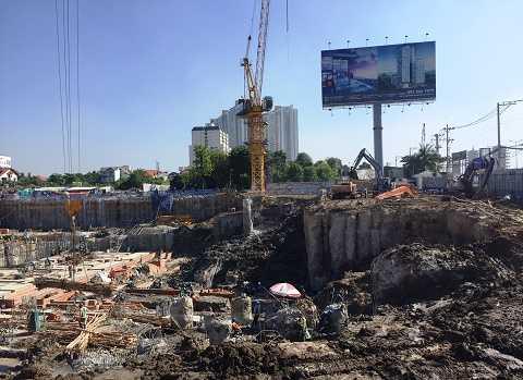 Dự án Gateway Thảo Điền đang xây dựng phần hầm trong khi đang nhùng nhằng chuyện bồi thường