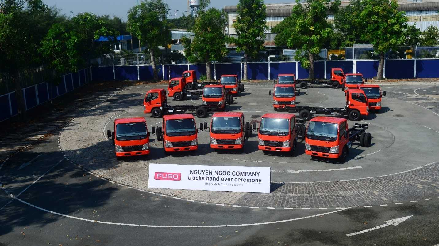 Lô xe tải nhẹ FUSO Canter 4.7 mà công ty Nguyễn Ngọc đặt mua