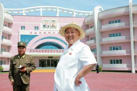 Chủ tịch Triều Tiên thị sát công trình nhà mẫu giáo và trại trẻ mồ côi Wonsan