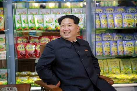 Ông Kim đến thăm Nhà máy Thực phẩm trẻ em ở Bình Nhưỡng