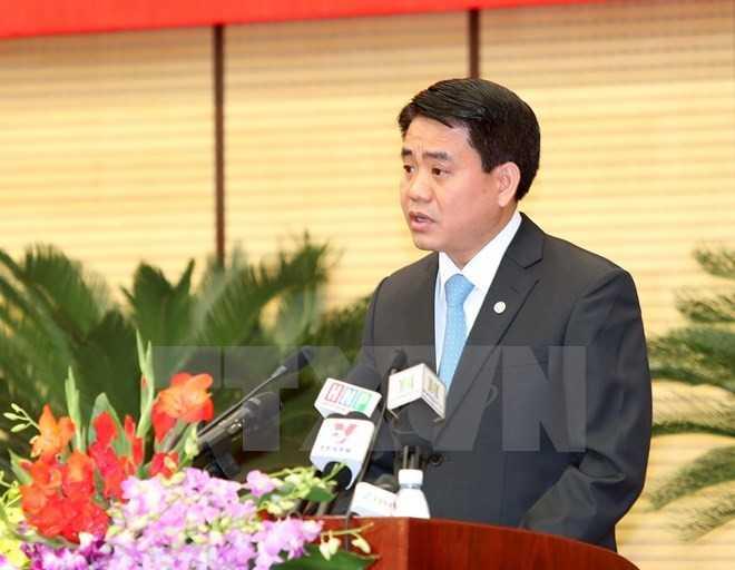 Phó bí thư Thành ủy, Chủ tịch UBND thành phố Hà Nội Nguyễn Đức Chung.