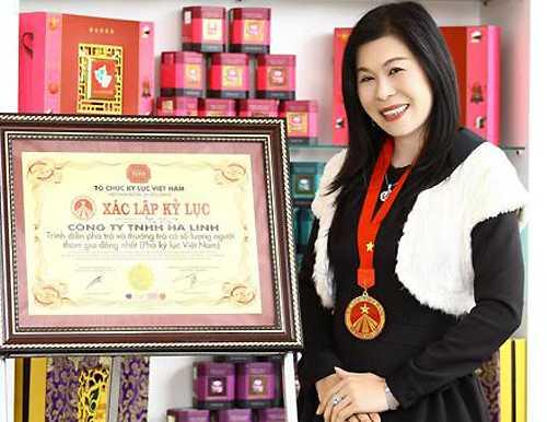 Nữ doanh nhân Hà Linh lúc còn sống