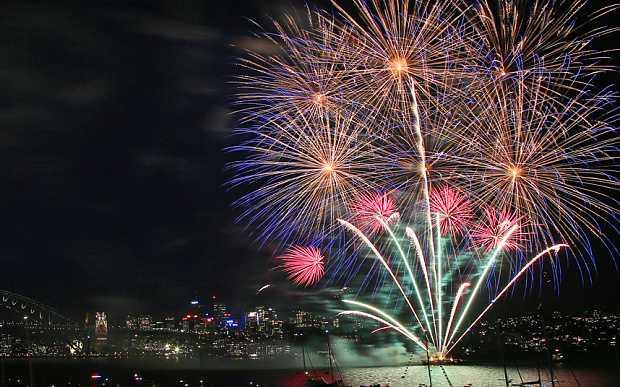 Pháo hoa rực rỡ đón năm mới ở Sydney