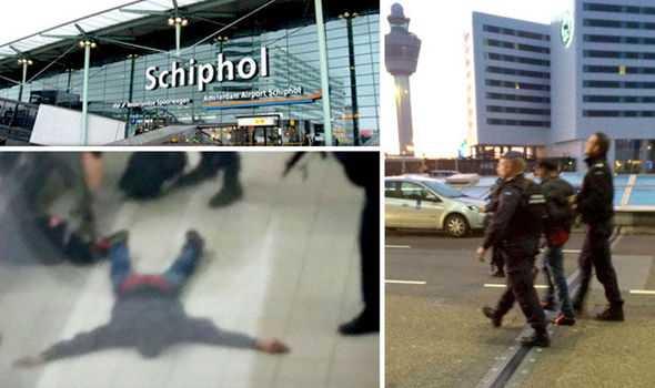 Người đàn ông bị bắt tại sân bay (Ảnh: AFP)