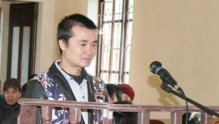 Triệu Tiến Minh tại phiên tòa sơ thẩm.