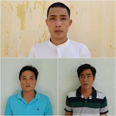 Các đối tượng Nguyễn Tu Ni,  Nguyễn Văn Đoan,  Hồ Chí Hiếu