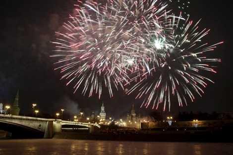 Pháo hoa đón năm mới của Nga