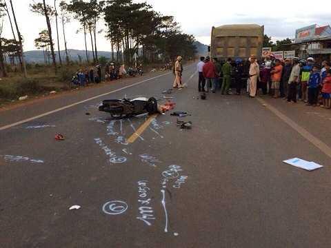 Hiện trường vụ tai nạn khiến 1 người tử vong vào ngày 1/1 vừa qua