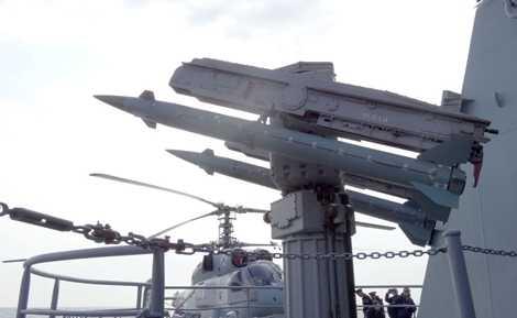 Tên lửa phòng không được gắn trên chiến hạm Moskva