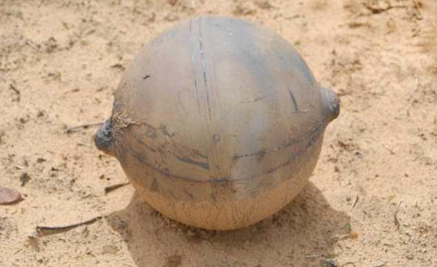 Quả bóng không gian xuất hiện ở Namibian