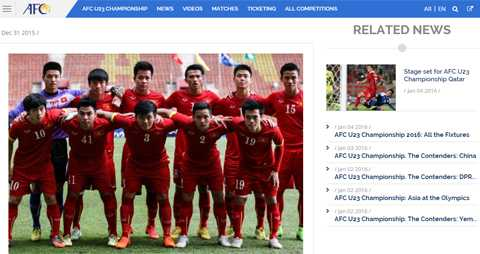 Trang chủ AFC giới thiệu về U23 Việt Nam