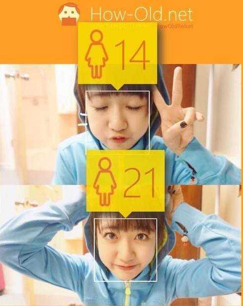 Đoán tuổi qua ảnh: Thời gian qua,   cộng đồng mạng Việt, đặc biệt hot teen, thích thú với ứng dụng mới mang   tên How-old (phần mềm đoán tuổi dựa trên những bức ảnh của Microsoft).   Du học sinh xinh đẹp Vũ Quỳnh Anh cũng không ngoại lệ. Cô gây bất ngờ   khi có đến hai kết quả trong cùng một bức ảnh. Chỉ khác nhau ở động tác   nhắm và mở mắt, 9X có sự chênh lệch tuổi lên đến 7 năm.