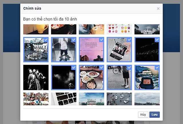 Ngoài những lựa chọn ngẫu nhiên do Facebook   đề xuất, mọi người cũng có thể tùy chọn ra 10 tấm hình đáng nhớ nhất,   tương ứng với 10 kỷ niệm muốn nhìn lại hoặc chia sẻ cùng bạn bè.