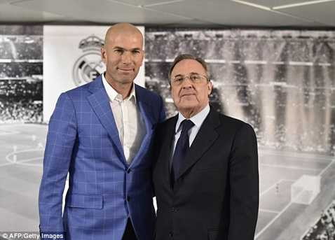 Zidane vừa được bổ nhiệm hôm qua