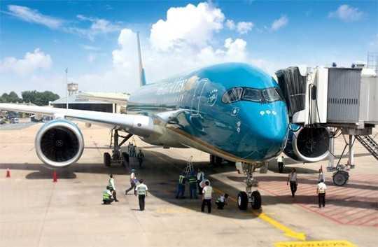 Chiếc tàu bay A350 của VNA gặp trục trặc lần đầu tiên vào ngày 24/7/2015.(Ảnh: Doanh nhân Sài Gòn )
